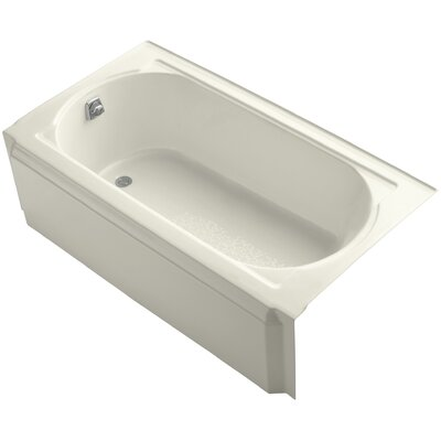 Memoirs Alcove 60 x 34 Soaking Bathtub Finish: Biscuit