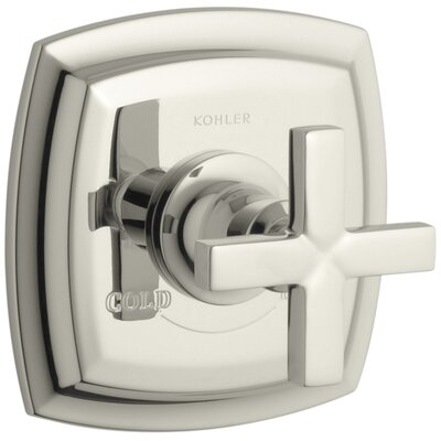 Margaux Valve Trim with Cross Handle for Thermostatic Valve, Requires Valve Finish: Vibrant Polished Nickel