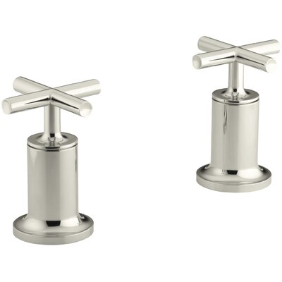 Purist Deck- or Wall-Mount High-Flow Bath Valve Trim with Cross Handle Finish: Vibrant Polished Nickel