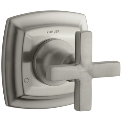Margaux Valve Trim with Cross Handle for Transfer Valve, Requires Valve Finish: Vibrant Brushed Nickel K-T16242-3-BN