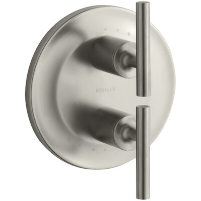 Purist Valve Trim with Lever Handles for Stacked Valve Finish: Vibrant Brushed Nickel