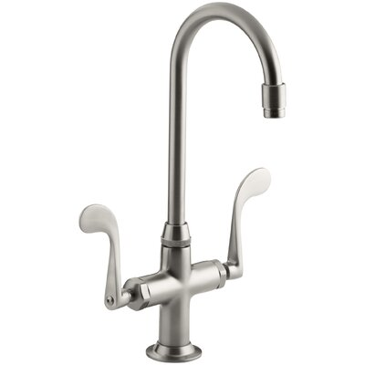 Essex Double Handle Kitchen Faucet with Wristblade Handles Finish: Vibrant Stainless