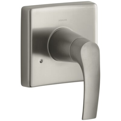Symbol Valve Trim with Lever Handle for Transfer Valve, Requires Valve Finish: Vibrant Brushed Nickel K-T18491-4-BN