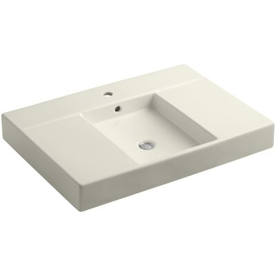 Traverse Single Faucet Hole 31 Single Bathroom Vanity Top Finish: Biscuit
