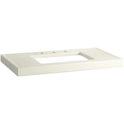 Kathryn Fireclay 42 Console Bathroom Sink with Overflow Sink Finish: Biscuit