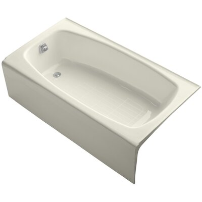 Dynametric Alcove 60 x 32 Soaking Bathtub Finish: Biscuit