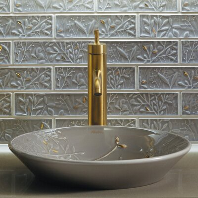 Artist Editions Gilded Circular Vessel Bathroom Sink Sink Finish: Translucent Cashmere