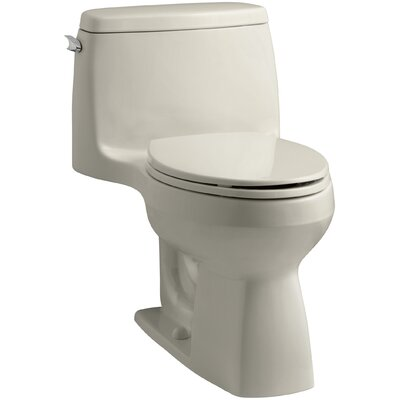 Santa Rosa Comfort Height One-Piece Compact Elongated 1.6 GPF Toilet with Aquapiston Flush Technology and Left-Hand Trip Lever Finish: Sandbar