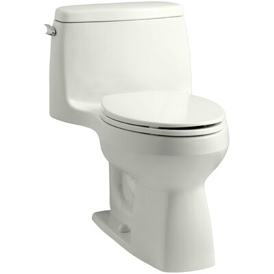 Santa Rosa Comfort Height One-Piece Compact Elongated 1.6 GPF Toilet with Aquapiston Flush Technology and Left-Hand Trip Lever Finish: Dune