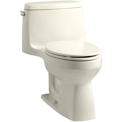 Santa Rosa Comfort Height One-Piece Compact Elongated 1.6 GPF Toilet with Aquapiston Flush Technology and Left-Hand Trip Lever Finish: Almond