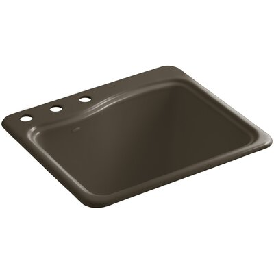River Falls Metal Rectangular Drop-In Bathroom Sink Finish: Suede, Number of Faucet Holes: 3