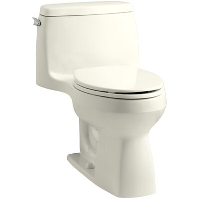 Santa Rosa Comfort Height One-Piece Compact Elongated 1.6 GPF Toilet with Aquapiston Flush Technology and Left-Hand Trip Lever Finish: Biscuit