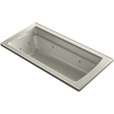 Archer Drop-in Whirlpool Bath with Bask Heated Surface Finish: Dune