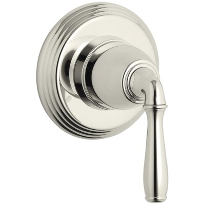 Devonshire Valve Trim for Transfer Valve with Lever Handle, Requires Valve Finish: Vibrant Polished Nickel