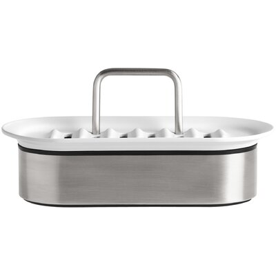 Sponge Caddy Finish: Stainless Steel