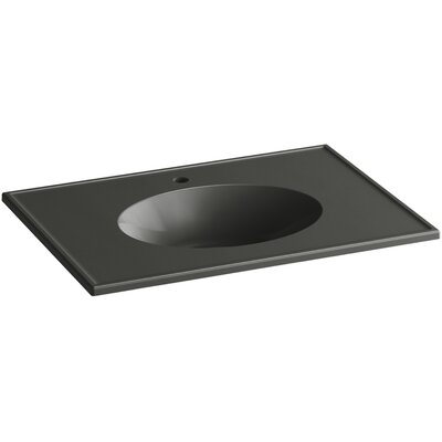 Ceramic Impressions 31 Single Bathroom Vanity Top Finish: Thunder Grey Impressions