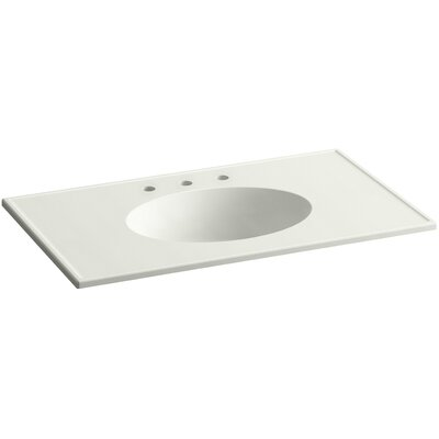 Ceramic Impressions Impressions Rectangular Drop-In Bathroom Sink with Overflow Top Finish: Dune Impressions