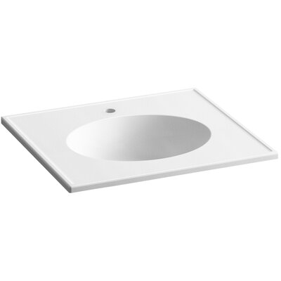 Ceramic Impressions Impressions Ceramic Rectangular Drop-In Bathroom Sink with Overflow Finish: White Impressions