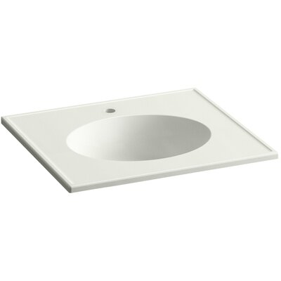 Ceramic Impressions 25 Console Bathroom Sink with Overflow Finish: Dune Impressions