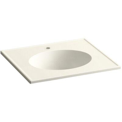 Ceramic Impressions Impressions Ceramic Rectangular Drop-In Bathroom Sink with Overflow Finish: Biscuit Impressions