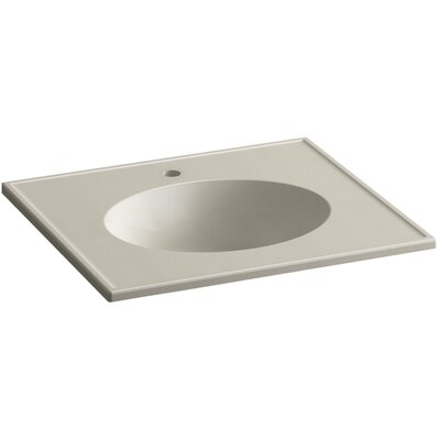 Ceramic Impressions Impressions Ceramic Rectangular Drop-In Bathroom Sink with Overflow Finish: Sandbar Impressions