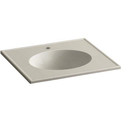 Ceramic Impressions 25 Console Bathroom Sink with Overflow Finish: Sandbar Impressions