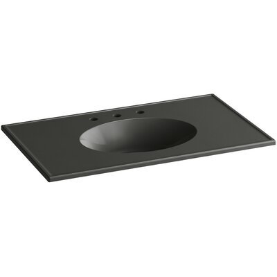 Ceramic Impressions Impressions Rectangular Drop-In Bathroom Sink with Overflow Top Finish: Thunder Gray Impressions