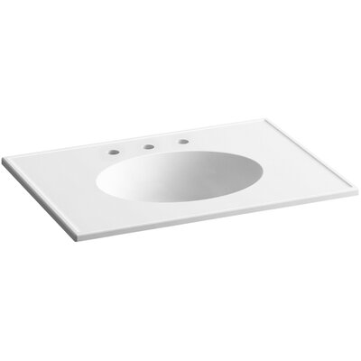Ceramic Impressions 31 Console Bathroom Sink with Overflow Finish: White Impressions