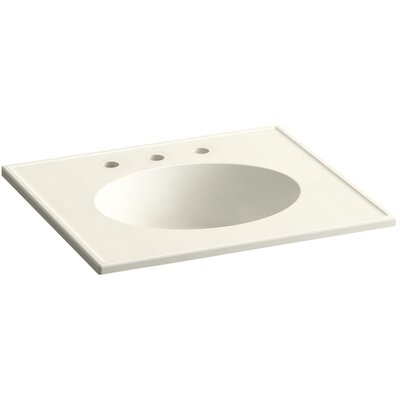 Devonshire Impressions Ceramic Rectangular Drop-In Bathroom Sink with Overflow Finish: Biscuit Impressions