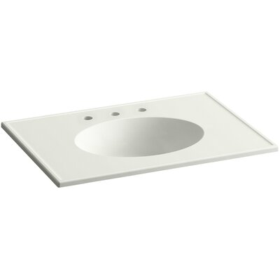 Ceramic Impressions Rectangular Drop-In Bathroom Sink with Overflow Top Finish: Dune Impressions