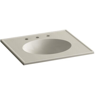 Devonshire Impressions Ceramic Rectangular Drop-In Bathroom Sink with Overflow Finish: Sandbar Impressions