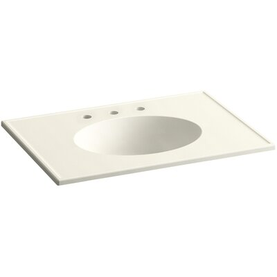 Ceramic Impressions 31 Console Bathroom Sink with Overflow Finish: Biscuit Impressions
