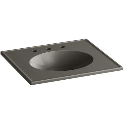 Ceramic Impressions 25 Console Bathroom Sink with Overflow Finish: Cashmere Impressions