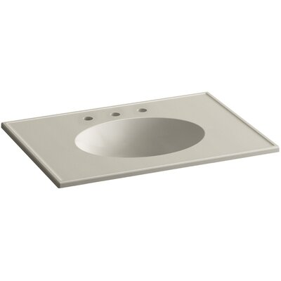 Ceramic Impressions 31 Console Bathroom Sink with Overflow Finish: Sandbar Impressions