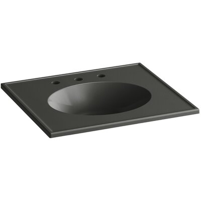 Ceramic Impressions 25 Console Bathroom Sink with Overflow Finish: Thunder Grey Impressions