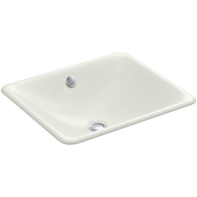 Iron Plains Plains? Metal Rectangular Undermount Bathroom Sink with Overflow Finish: Dune