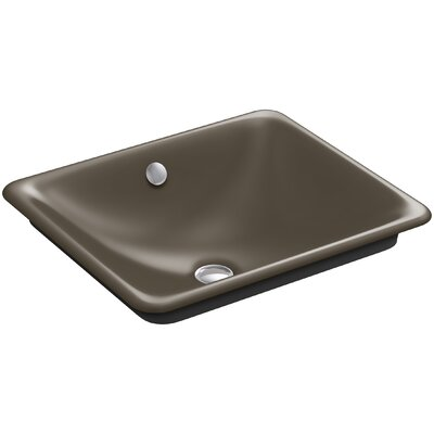 Iron Plains Plains? Metal Rectangular Vessel Bathroom Sink with Overflow Finish: Suede