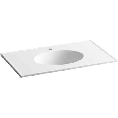 Ceramic Impressions 37 Console Bathroom Sink with Overflow Finish: White Impressions
