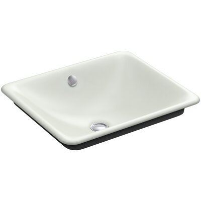 Iron Plains Plains? Metal Rectangular Vessel Bathroom Sink with Overflow Finish: Sea Salt