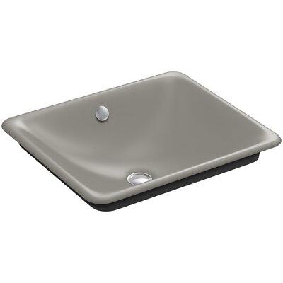 Iron Plains Plains? Metal Rectangular Vessel Bathroom Sink with Overflow Finish: Cashmere