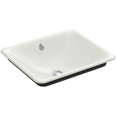 Iron Plains Wading Pool Rectangular Vessel Bathroom Sink with Overflow Finish: Dune