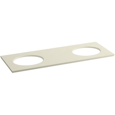 Solid/Expressions 61 Double Bathroom Vanity Top Finish: Almond Expressions