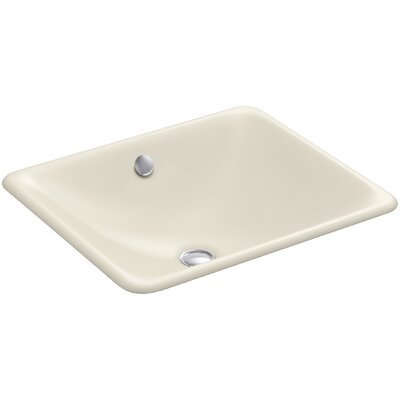 Iron Plains Rectangular Undermount Bathroom Sink with Overflow Finish: Almond
