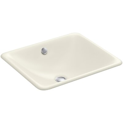Iron Plains Rectangular Undermount Bathroom Sink with Overflow Finish: Biscuit