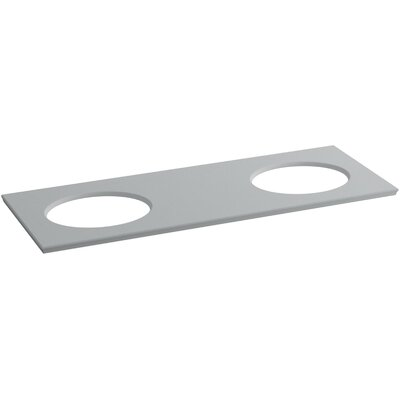 Solid/Expressions 61 Double Bathroom Vanity Top Finish: Ice Grey Expressions