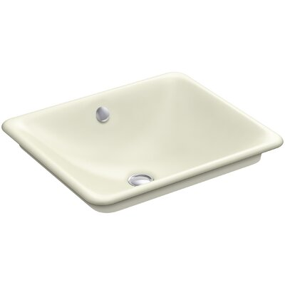 Iron Plains Wading Pool Rectangular Vessel Bathroom Sink with Overflow Finish: Cane Sugar
