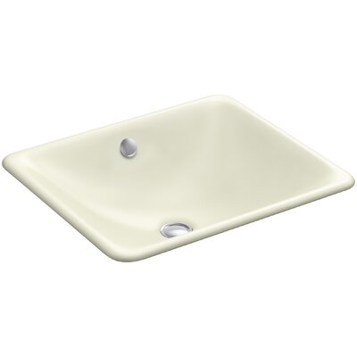 Iron Plains Rectangular Undermount Bathroom Sink with Overflow Finish: Cane Sugar