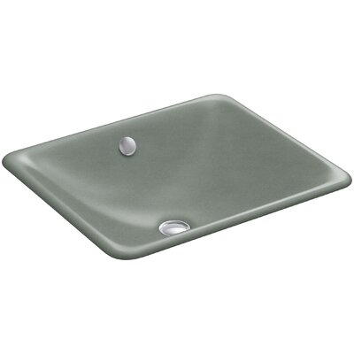 Iron Plains Plains? Metal Rectangular Undermount Bathroom Sink with Overflow Finish: Basalt