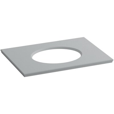 Solid/Expressions 31 Single Bathroom Vanity Top Finish: Ice Grey Expressions