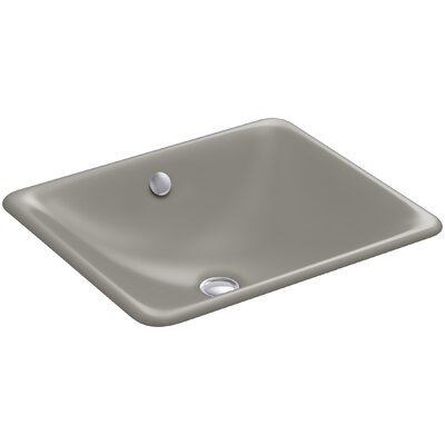 Iron Plains Rectangular Undermount Bathroom Sink with Overflow Finish: Cashmere